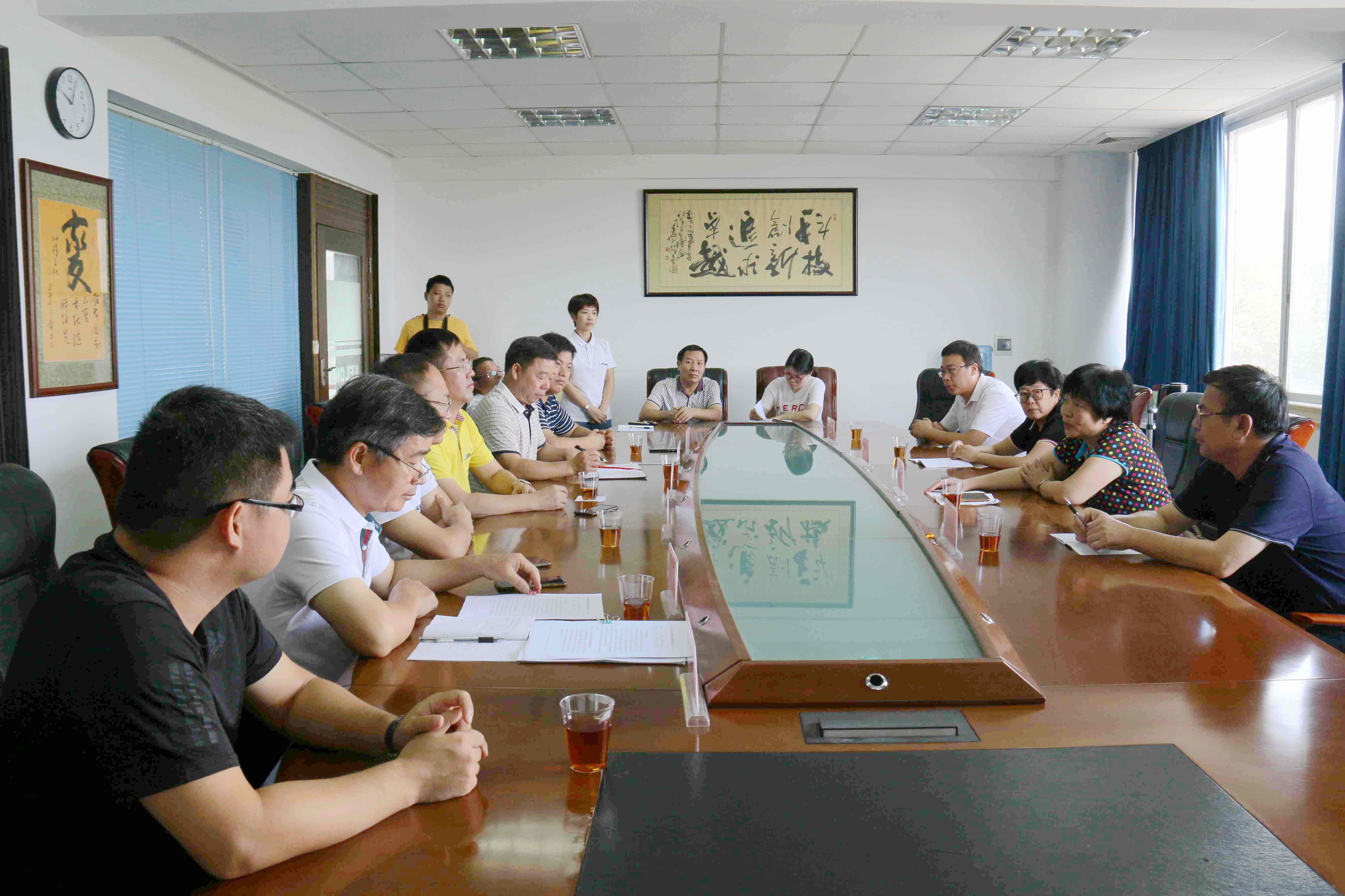 广西贺州市委常委、统战部部长唐敬春走访调研旺高工业区企业